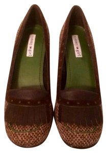 Tommy Hilfiger Chocolate Brown / Forest Green Pumps