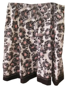 Cato Maxi 18w Flowers Skirt black, white, pink