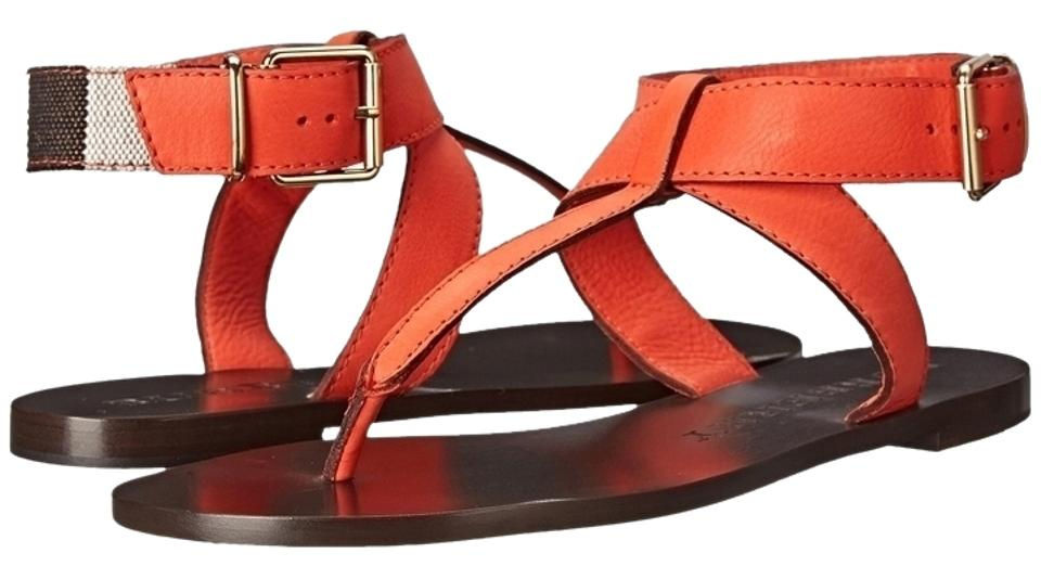 Burberry Kington Orange Kington Burberry Vibrant Leather 36/ Sandals bf5706