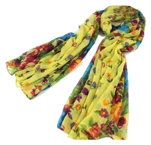 Other NEW!!!!! Soft Yellow Voile Floral Scarf