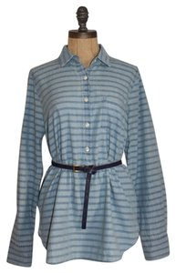 J.Crew Stripe Striped Button Down Shirt BLUE