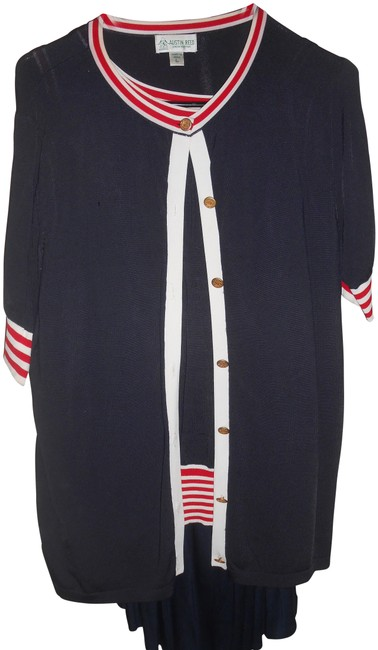 Austin Reed Red White Blue Vintage Pleated 3 Pcs Skirt Suit Size 12 L Tradesy