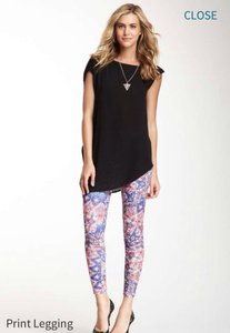 Romeo & Juliet Couture Floral Skinny Pants Pink and Blue