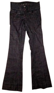 Famous Unknown Brand Flare Leg Jeans-Dark Rinse