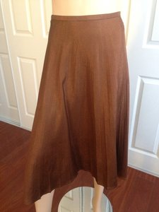 Céline France Shimmer Skirt Copper