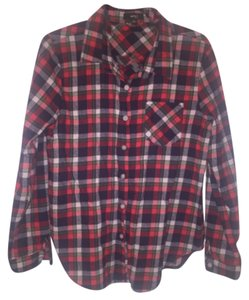 Very J Button Down Shirt Red