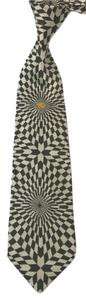 Versace GIANNI VERSACE BLACK AND WHITE PRINTED SILK TIE