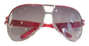 Marc Jacobs Marc Jacobs Sunglasses 129 ENIUU Palladium with Red and Gray Gradient Lens