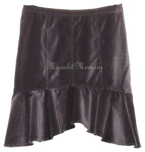 Garnet Hill Flared Fit And Flare High Low Hi Lo Skirt Purple
