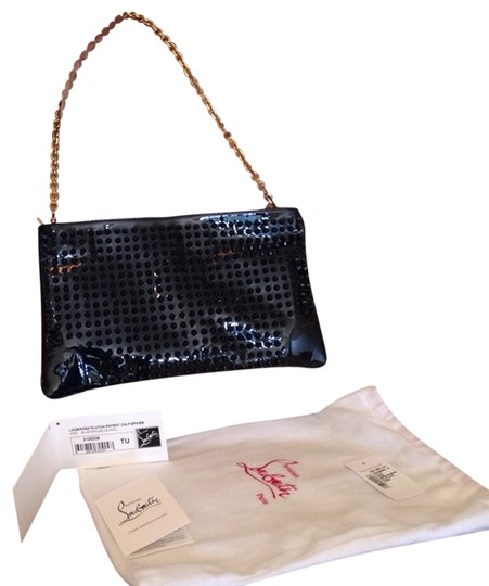 Christian Louboutin Navy Clutch