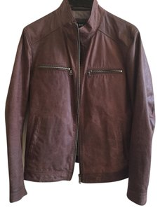 Hugo Boss Leather Brown Leather Jacket