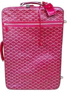 Goyard Luggage Suitcase Carry On Unique Red Travel Bag