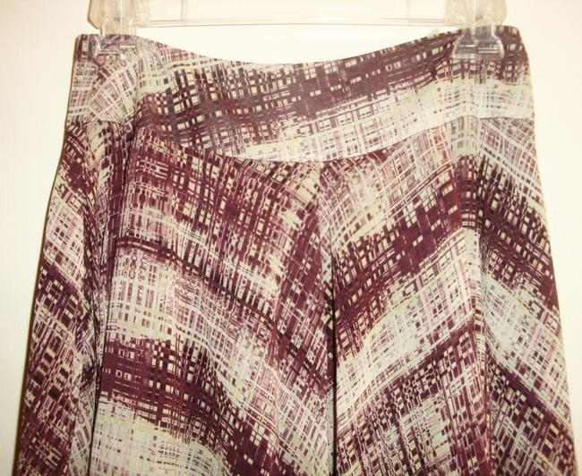 Anne Klein Silk Plaid Handkerchief Asymmetrical Skirt Multicolor Burgundy & Green