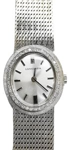 Longines LONGINES Vintage 14 Karat White Gold Watch With 41 Diamonds 0.50Cttw