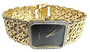 Geneva GENEVA Vintage 14 Karat Yellow Gold Watch With 43 Diamonds