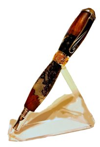 Executive Handmade Erythrina Red Coral Burl Wood 22k Fine Writing Fountain Pen Collectible Art