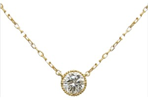 Other *NEW*Cute 0.2ct Diamond 18K Yellow Gold Pendant Necklace