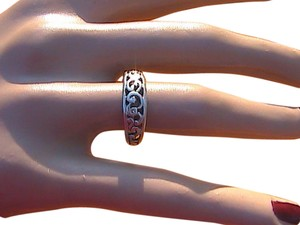 Sterling Silver Swirl Band Ring (#125)