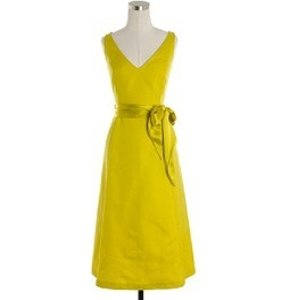 J.Crew Chartreuse/Yellow Bridesmaid/Mob Dress Size 8 (M)
