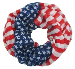 Unknown Lightweight American Flag Infinity Scarf
