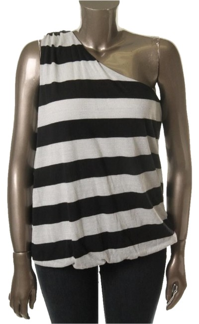 INC International Concepts Top Black and Silver