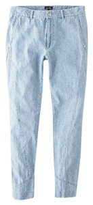 Steven Alan Chambray Patchwork Straight Leg Jeans-Light Wash