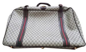 GUCCI Vintage Classic Brown Monogram Travel Bag
