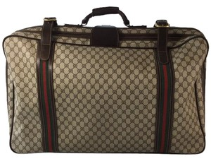 Gucci Monogram Suitcase Brown/Beige Travel Bag