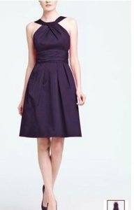 David's Bridal Purple Cotton Short Y-neck and Skirt Pleating Casual Bridesmaid/Mob Dress Size 24 (Plus 2x)