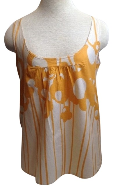 Marimekko Floral Hipster Boho Small Flowerpower Top Cream