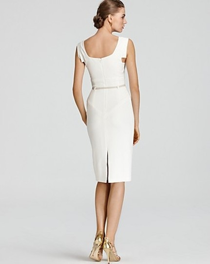 d6a41d9ee79 Black Halo White With White Patent Leather Belt Jackie O Dress - 46% Off  Retail