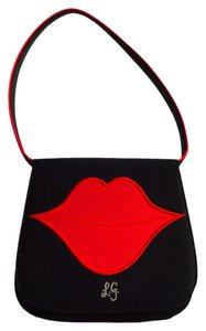 Lulu Guinness Satchel in black, red
