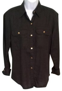 Ralph Lauren Button Down Shirt Black