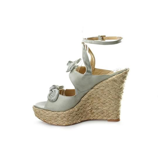 Joseph Griffin Bohemian Distressed Leather Mint Wedges