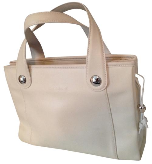 Longchamp Leather Champ Tote in White
