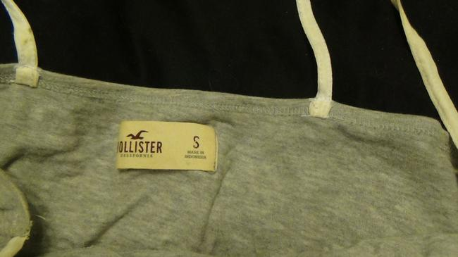 Hollister Top grey and white