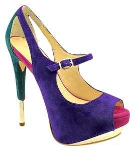Boutique 9 Stiletto Hidden Suede Leather Multi Jewel Colors Platforms