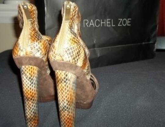 Rachel Zoe Gold and snake print Pumps