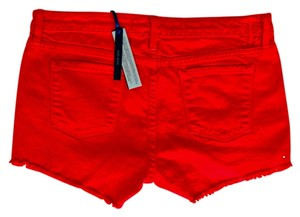 Juicy Couture Cutoff Jean Cut Off Shorts Red Ginger