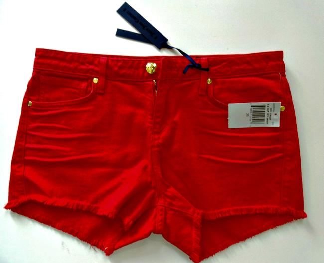 Juicy Couture Jean 29 Cut Off Shorts Red Ginger