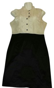 Forever 21 short dress Ivory & Black 21 Polka Dots Ruffles Ruffled on Tradesy