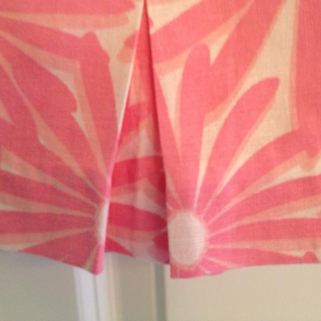 Vineyard Vines Linen Preppy Classic Dressy Casual Mini Skirt Pink and White