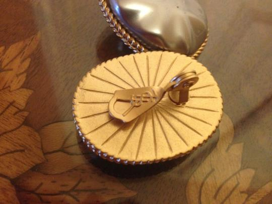 Saint Laurent YSL Vintage Pearl and Gold Clip On