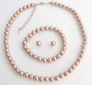 Fashion Jewelry For Everyone Champagne Bridesmaid Necklace Earrings Bracelet Pearl Party Gift Jewelry Set