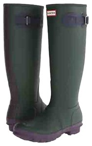 Hunter Rain Rubber; Green Boots