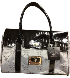 Beverly Hills Polo Club Tote in Black/Gray