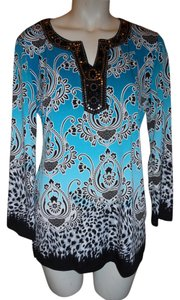 JM Collection Studded Sequin Tunic