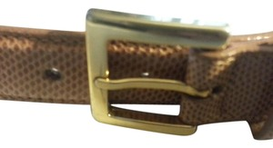Saks Fifth Avenue Saks Fifth Avenue Tan Karung Snakeskin Leather Small Belt