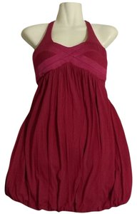 bebe Red Burgundy Mini Dress