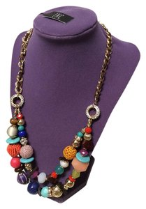 INC International Concepts BWT INC Multi-Colored Beaded Statement Necklace